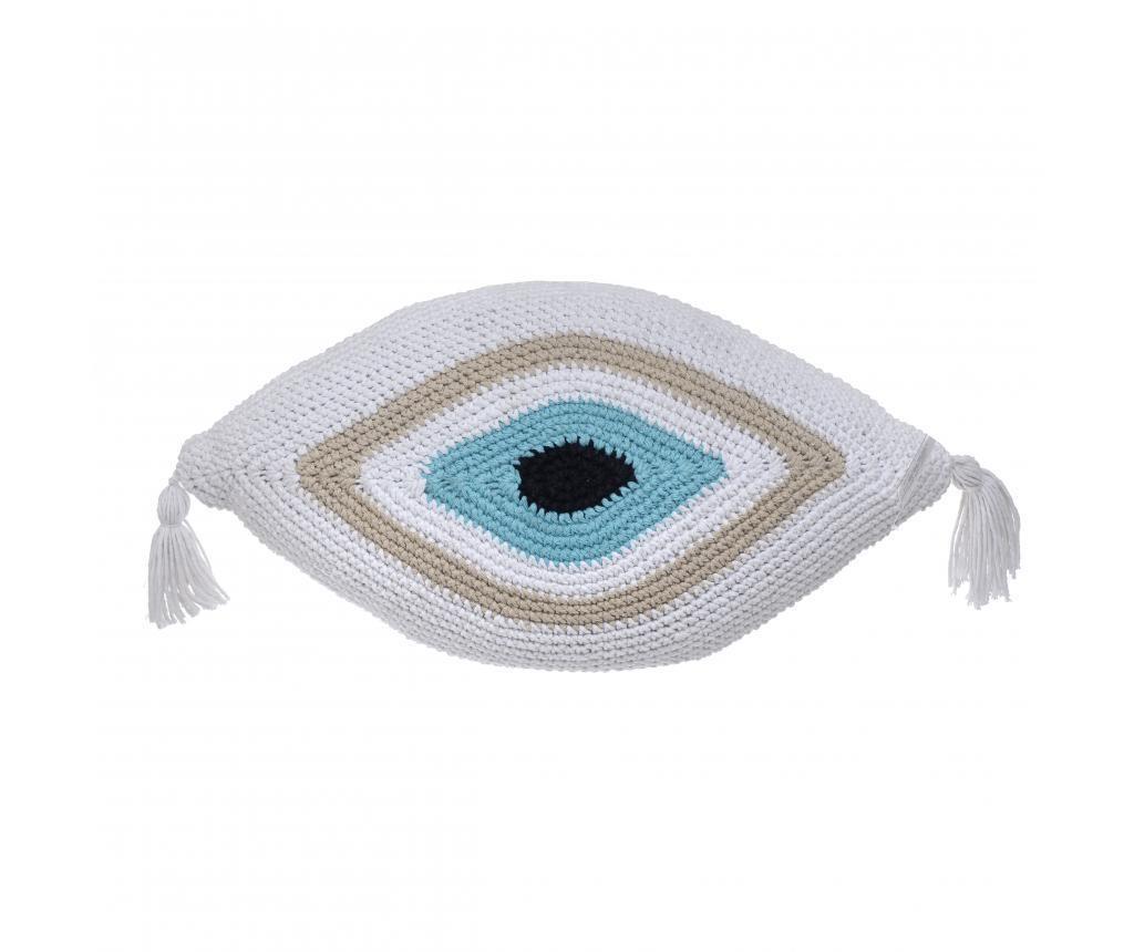 Perna decorativa Eye White 35x65 cm