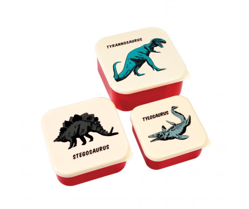 Set 3 caserole pentru mancare Prehistoric Land