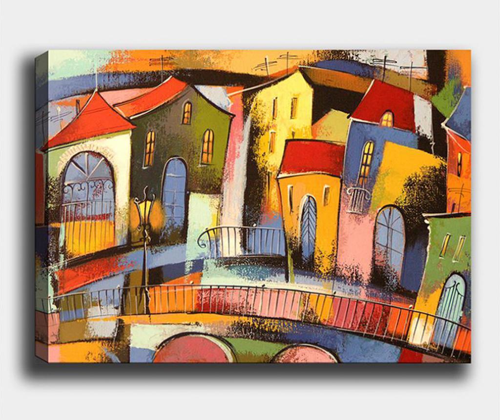 Tablou Village 50x70 cm