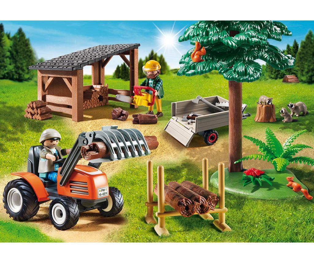Igrača Odlagališče lesenih hlodov in traktor Pauline