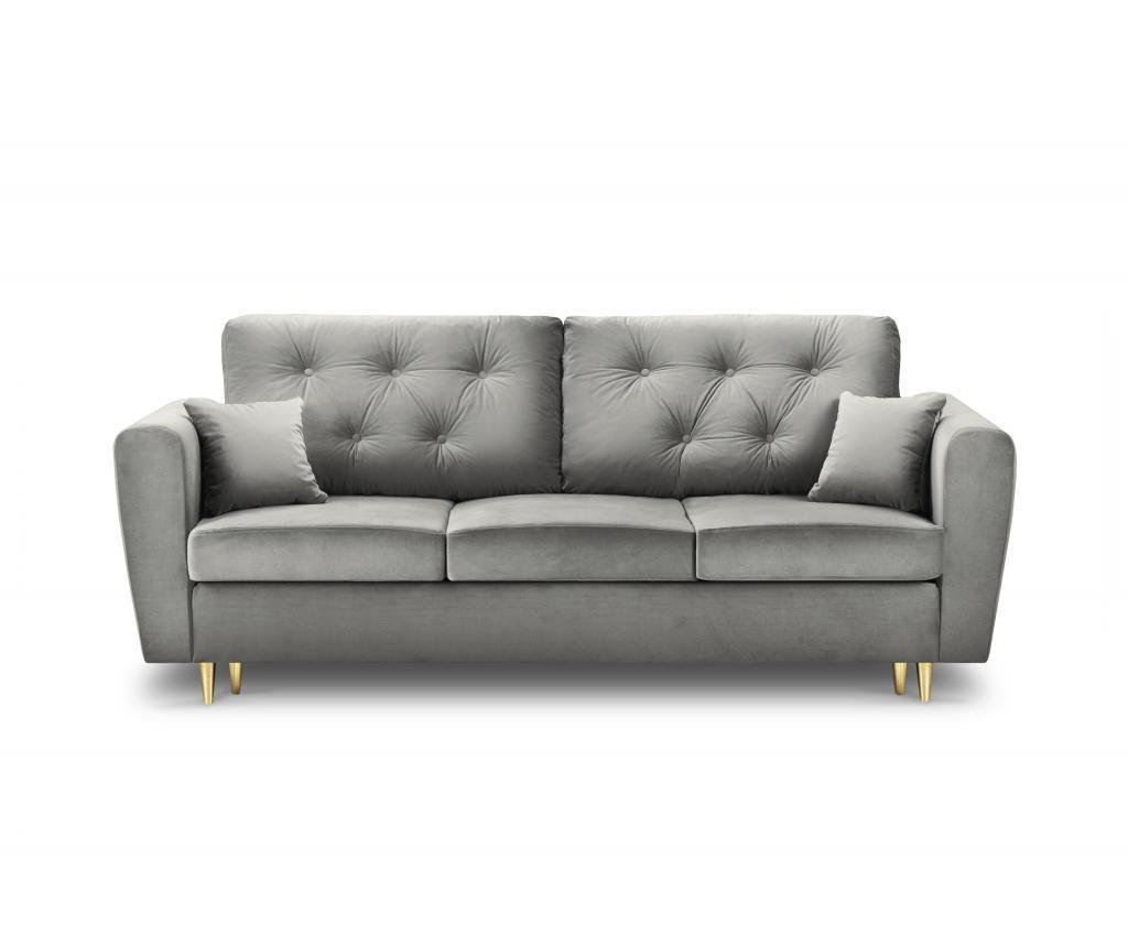 Carmen Light Grey Kihúzható háromszemélyes kanapé
