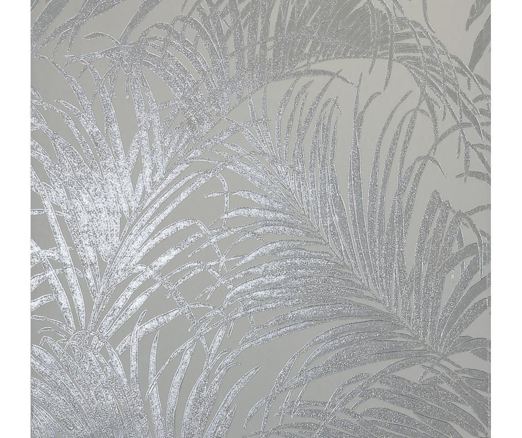 Stenska tapeta Palm Silver Grey Kiss Foil 53x1005 cm