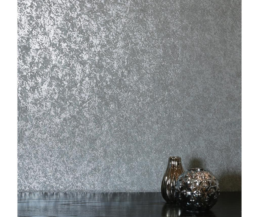 Tapet Texture Grey Charcoal Kiss Foil 53x1005 cm