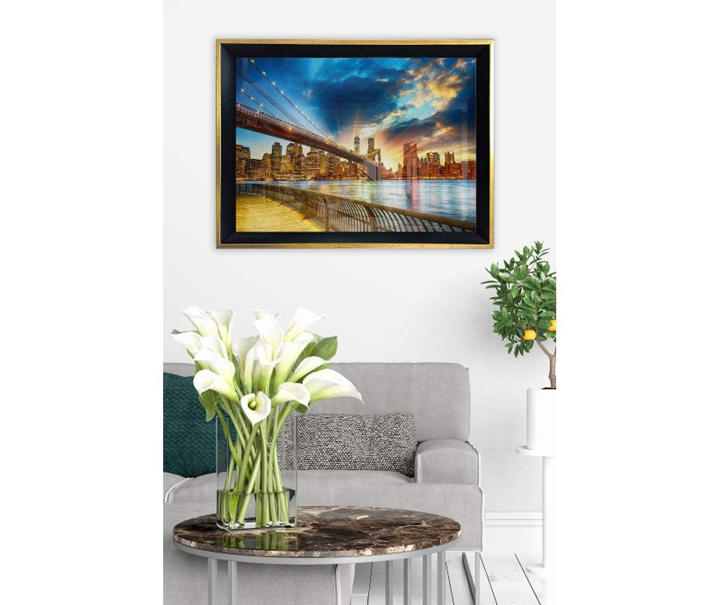 Slika Bridge & Sunset 45x65 cm