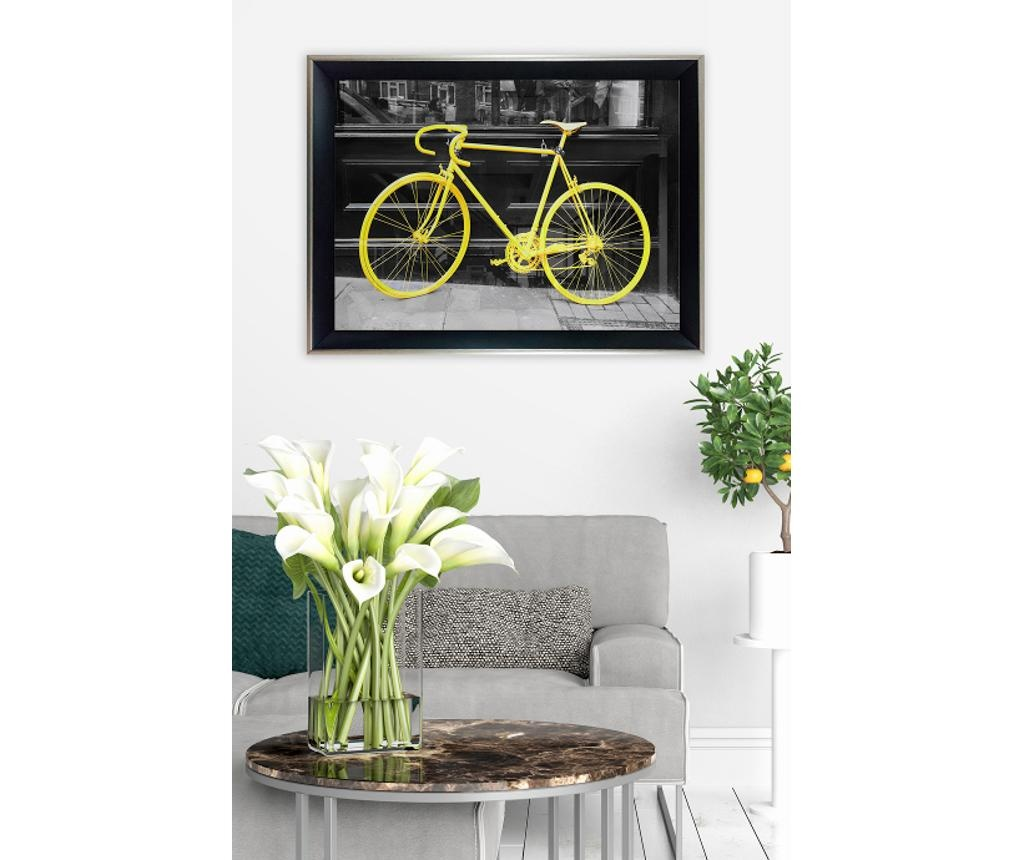 Yellow Bike Kép 35x45 cm