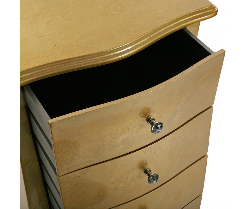 Шкафче с 5 чекмеджета Cagliari Golden