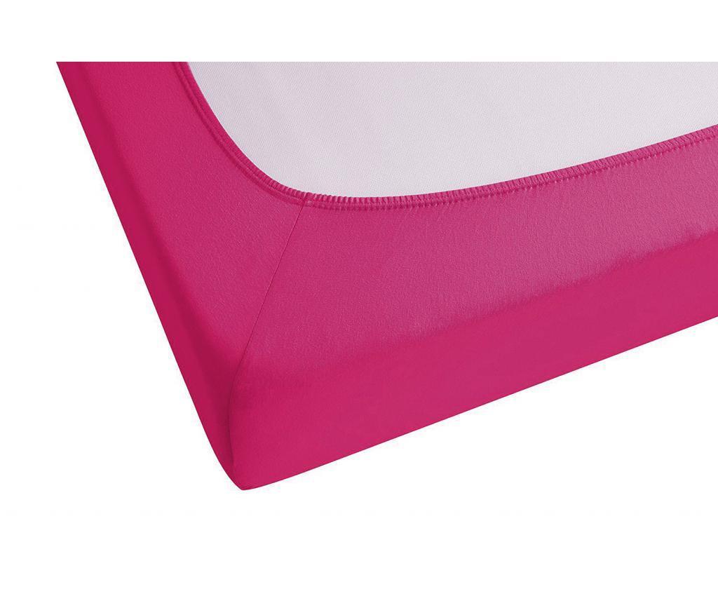 Cearsaf de pat cu elastic Pink 160x200 cm