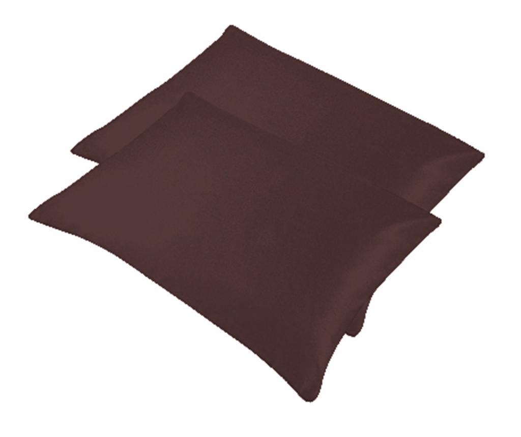 Set 2 prevlek za vzglavnik Bogo Dark Brown 50x70 cm