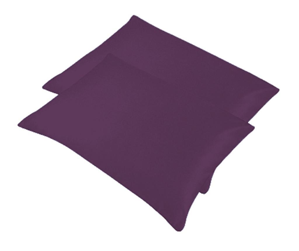 Set 2 prevlek za vzglavnik Bogo Dark Purple 50x70 cm