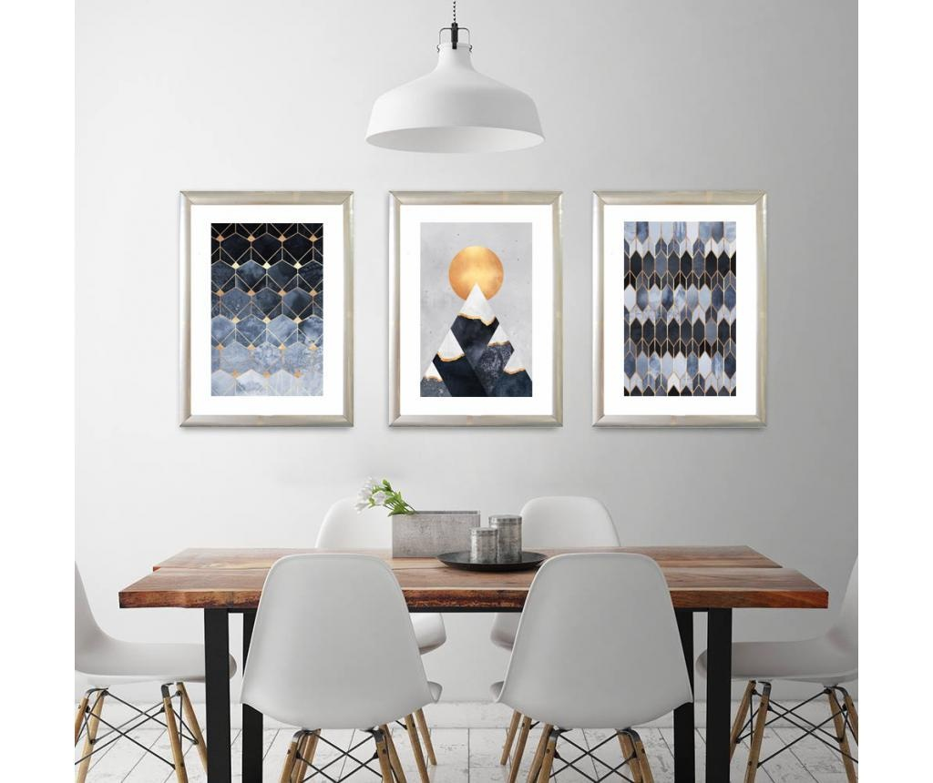 Set 3 tablouri Moonlight 23x33 cm