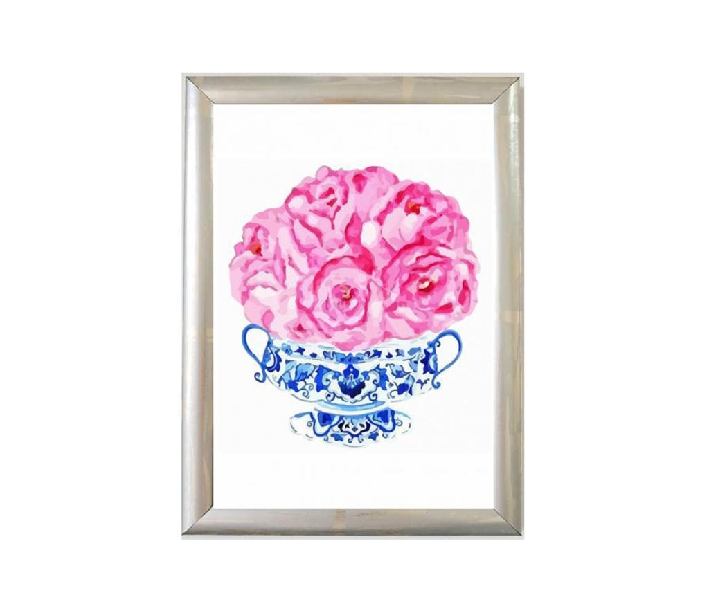 Πίνακας Cini Vazo Pink Roses 23x33 cm