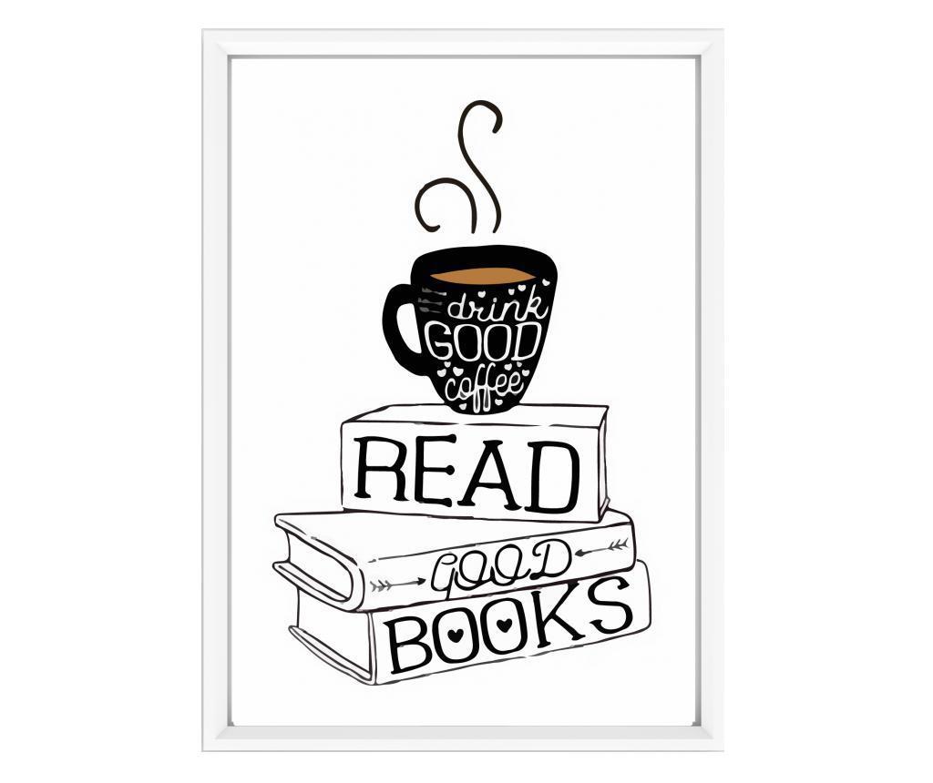 Πίνακας Read Good Books White 23x33 cm