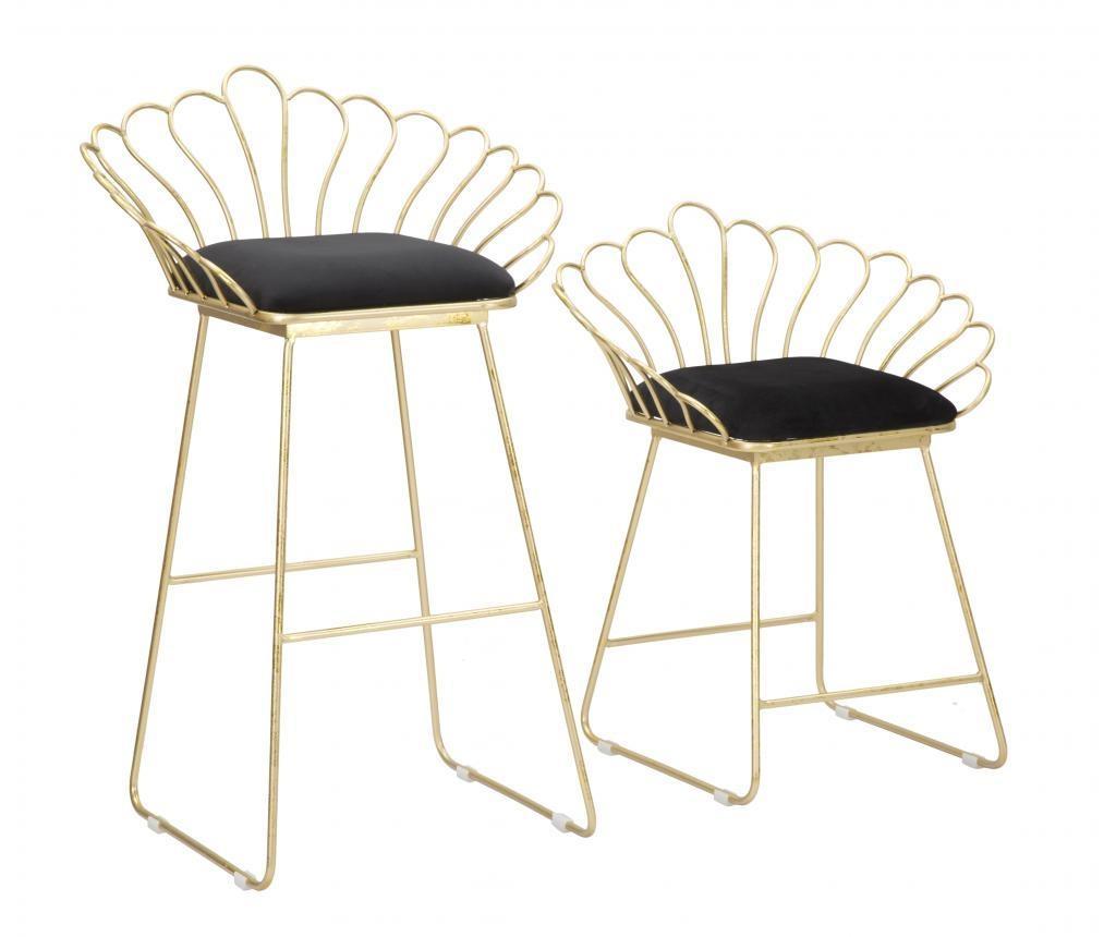 Sada barovej stoličky a stoličky Glam