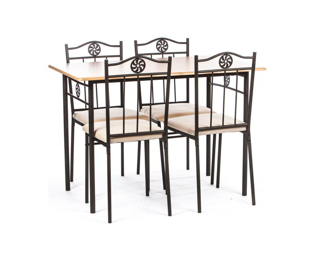 Set stol i 4 stolice za vanjski prostor Victory Cream