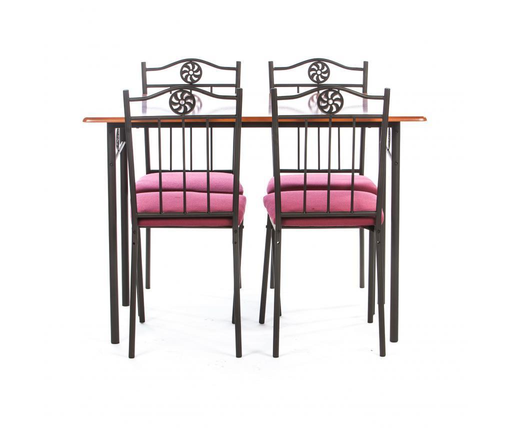Set masa si 4 scaune pentru exterior Victory Red