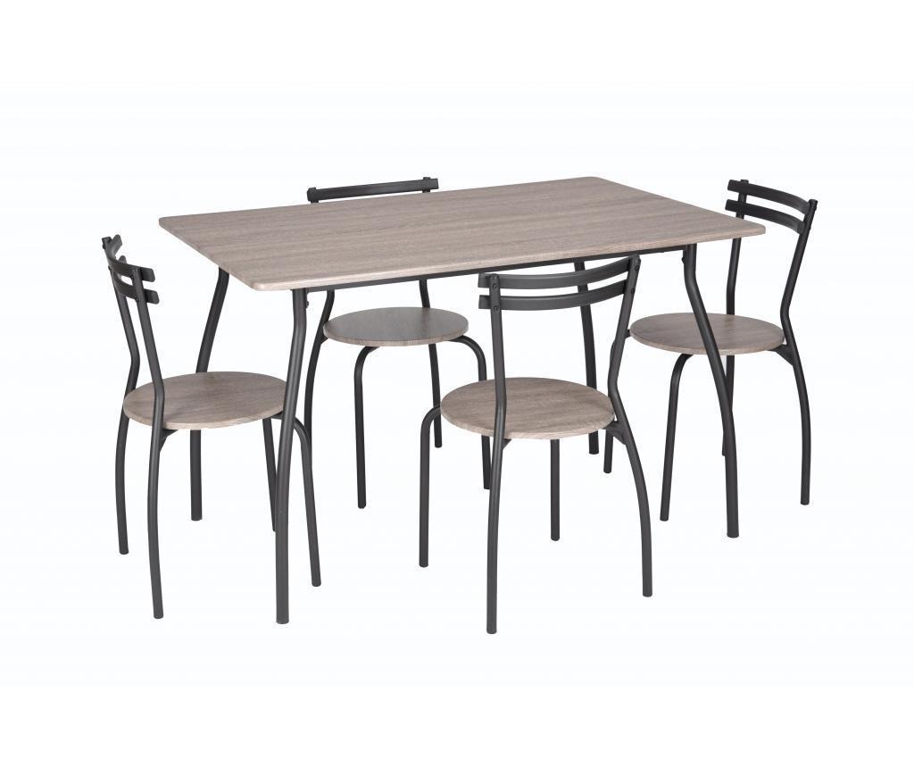 Set vrtna miza in 4 stola Vega Cream