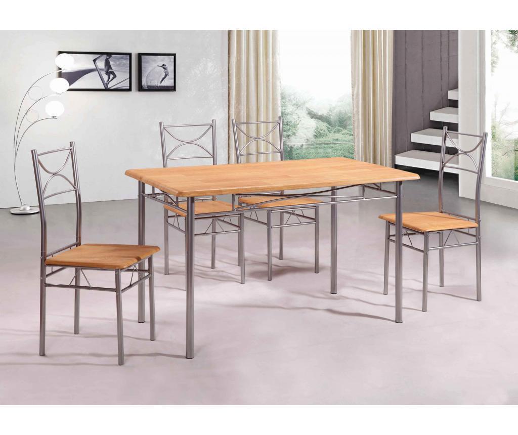Set stol i 4 stolice za vanjski prostor Vera Cream