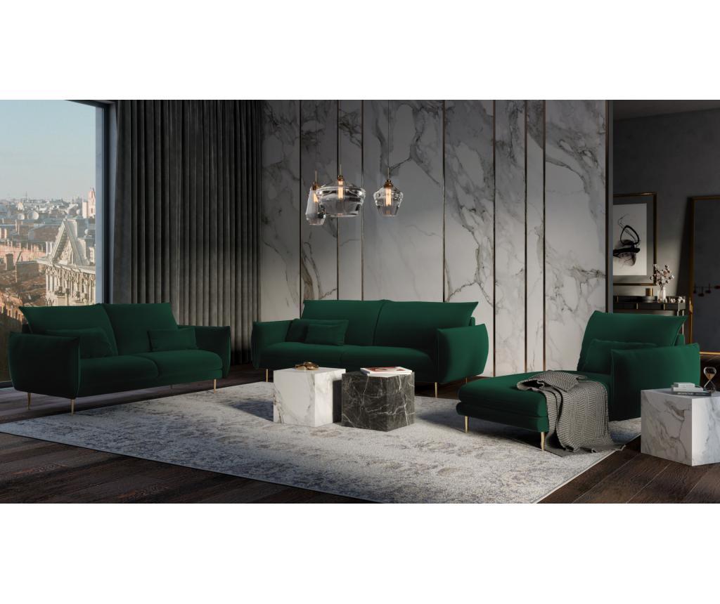 Sofa cu 4 locuri Biagio Bottle Green