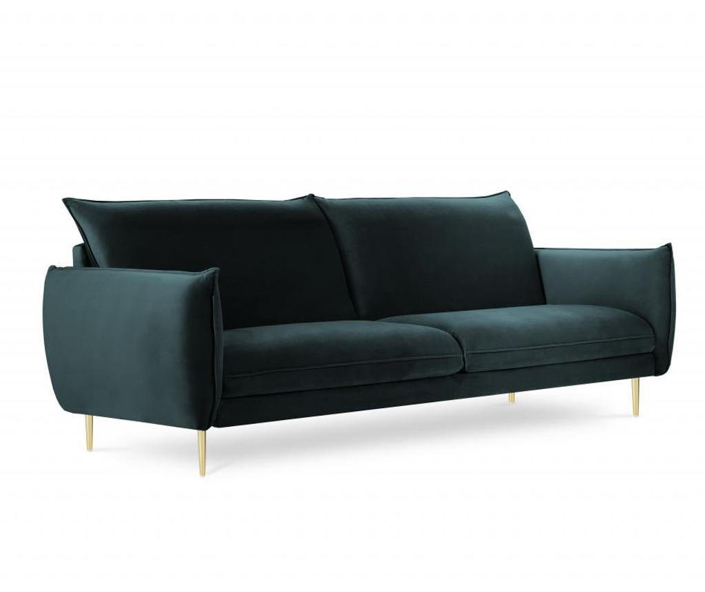 Sofa cu 4 locuri Biagio Petrol