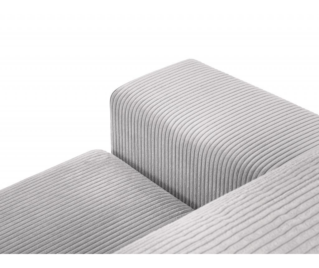Coltar extensibil stanga Donatella Light Grey