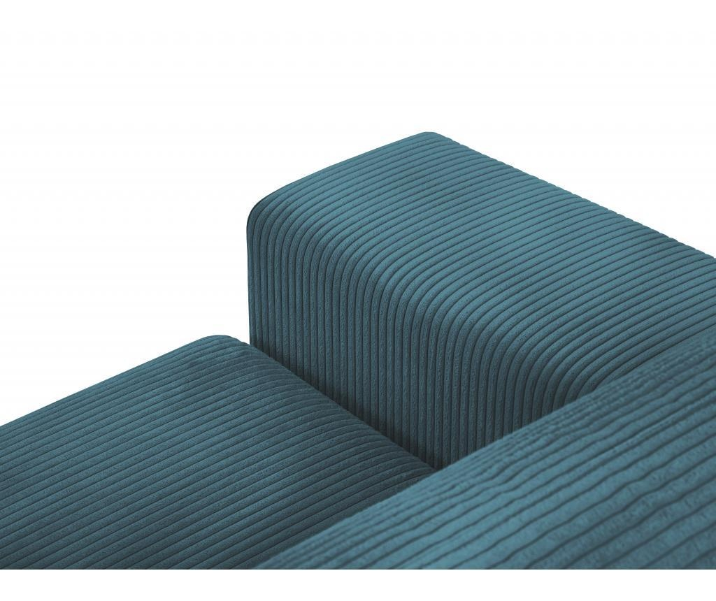 Coltar extensibil dreapta Donatella Turquoise