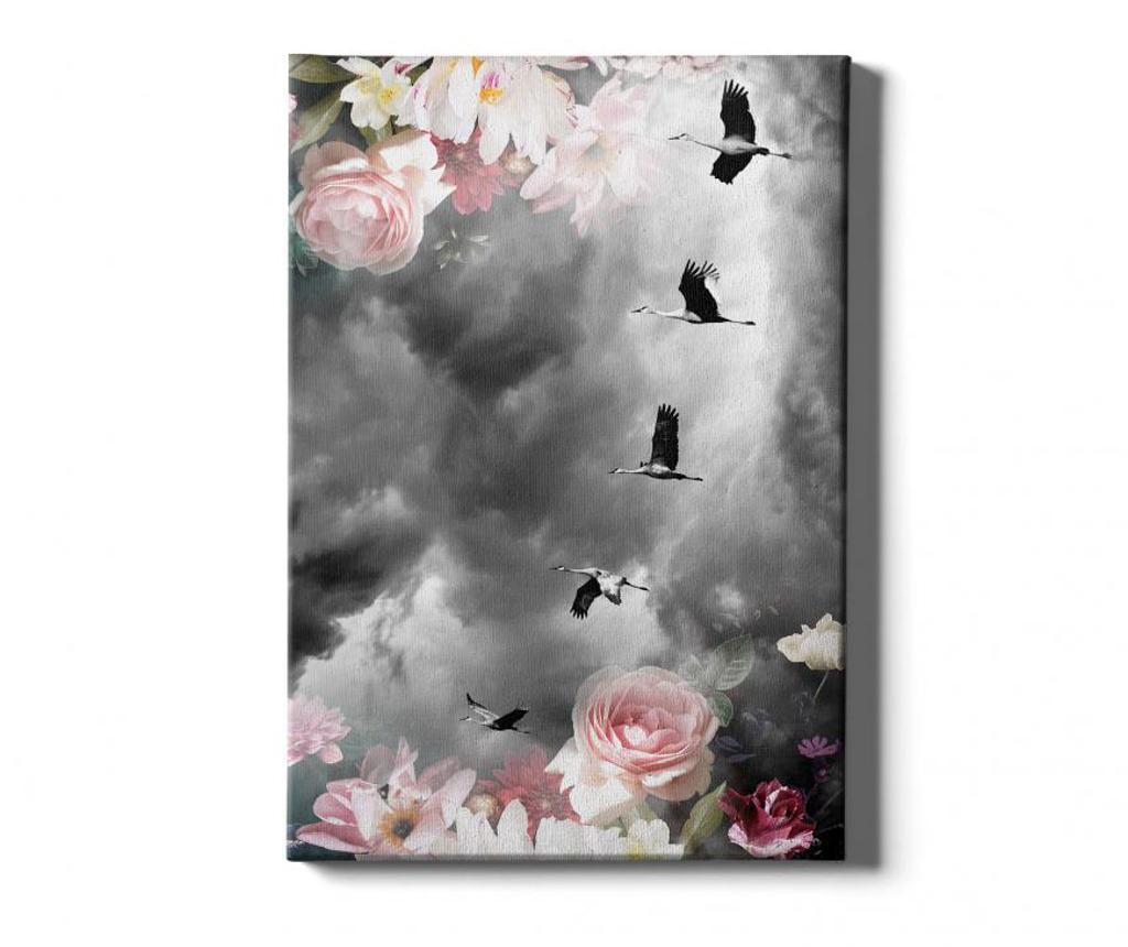 Πίνακας Birds-Flower 50x70 cm