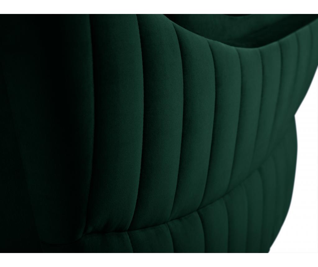 Canapea 2 locuri Louvres Bottle Green
