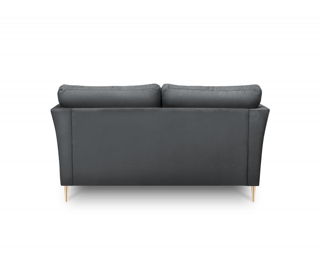 Canapea 2 locuri Paris Dark Grey