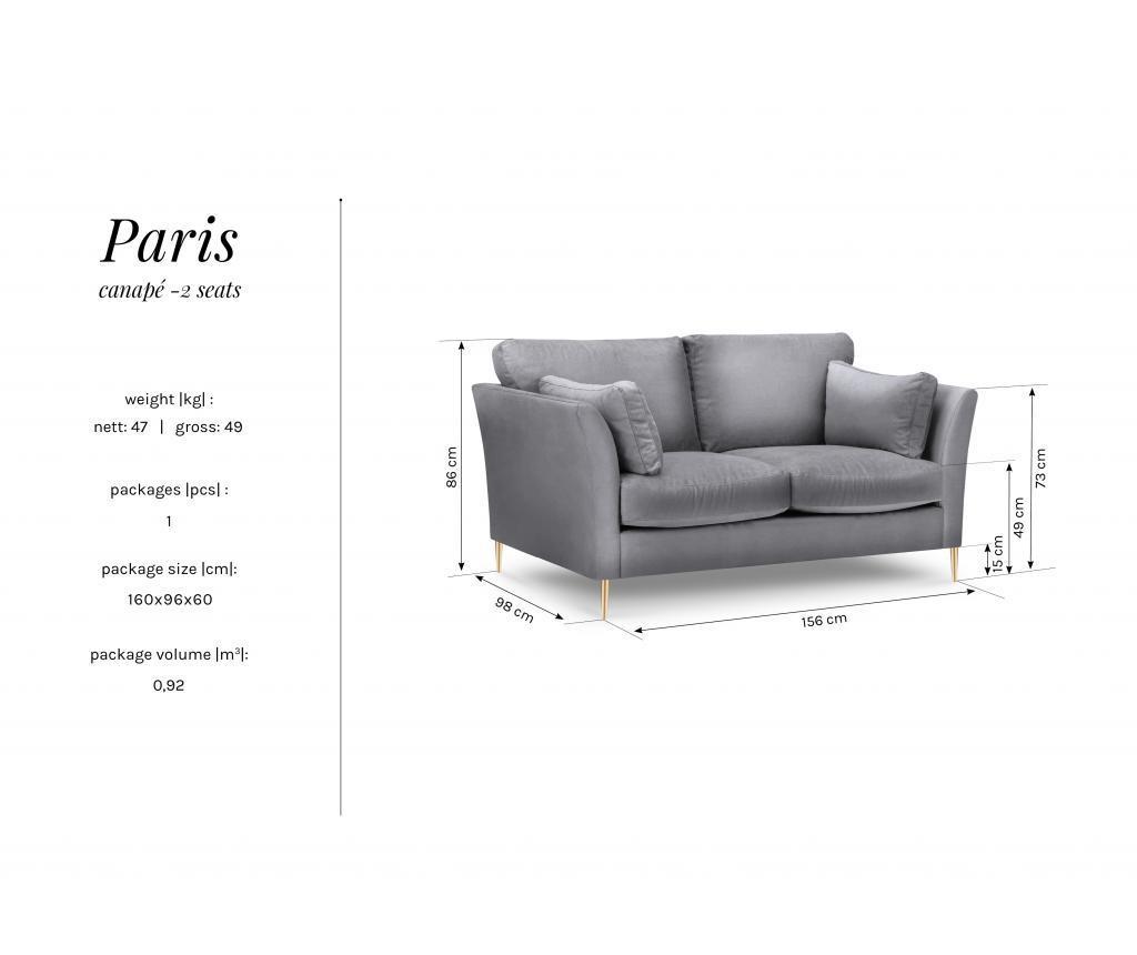 Canapea 2 locuri Paris Bordeaux