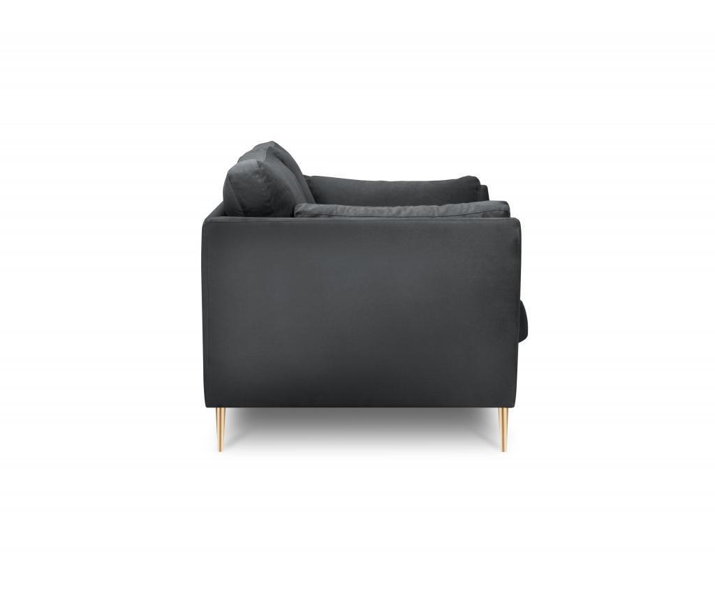 Canapea 3 locuri Paris Dark Grey