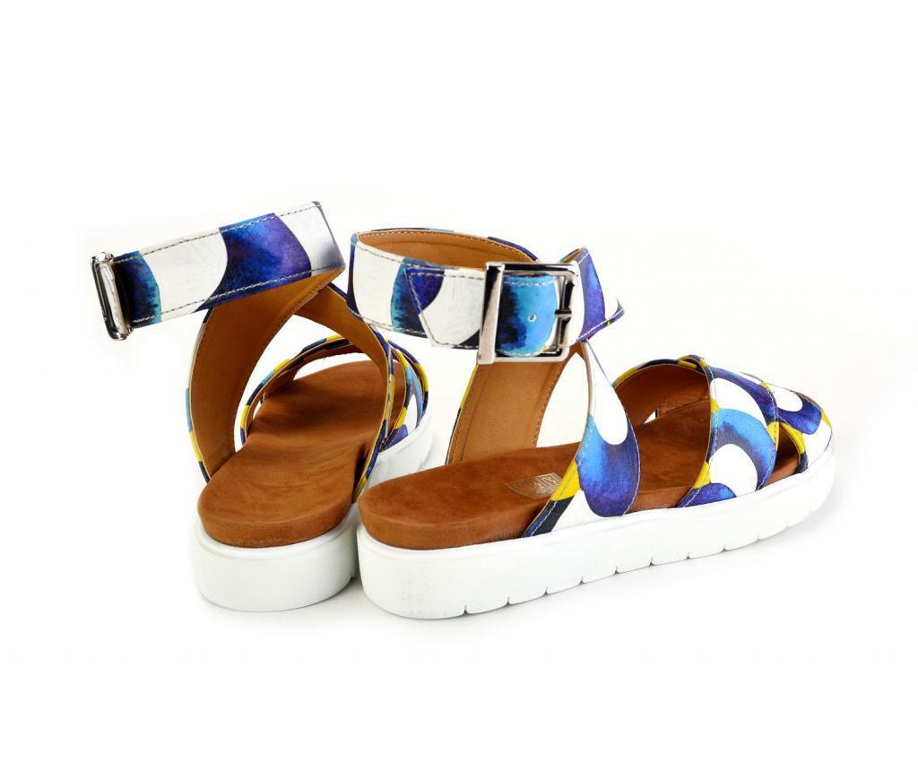 Sandale dama White And Blue 38