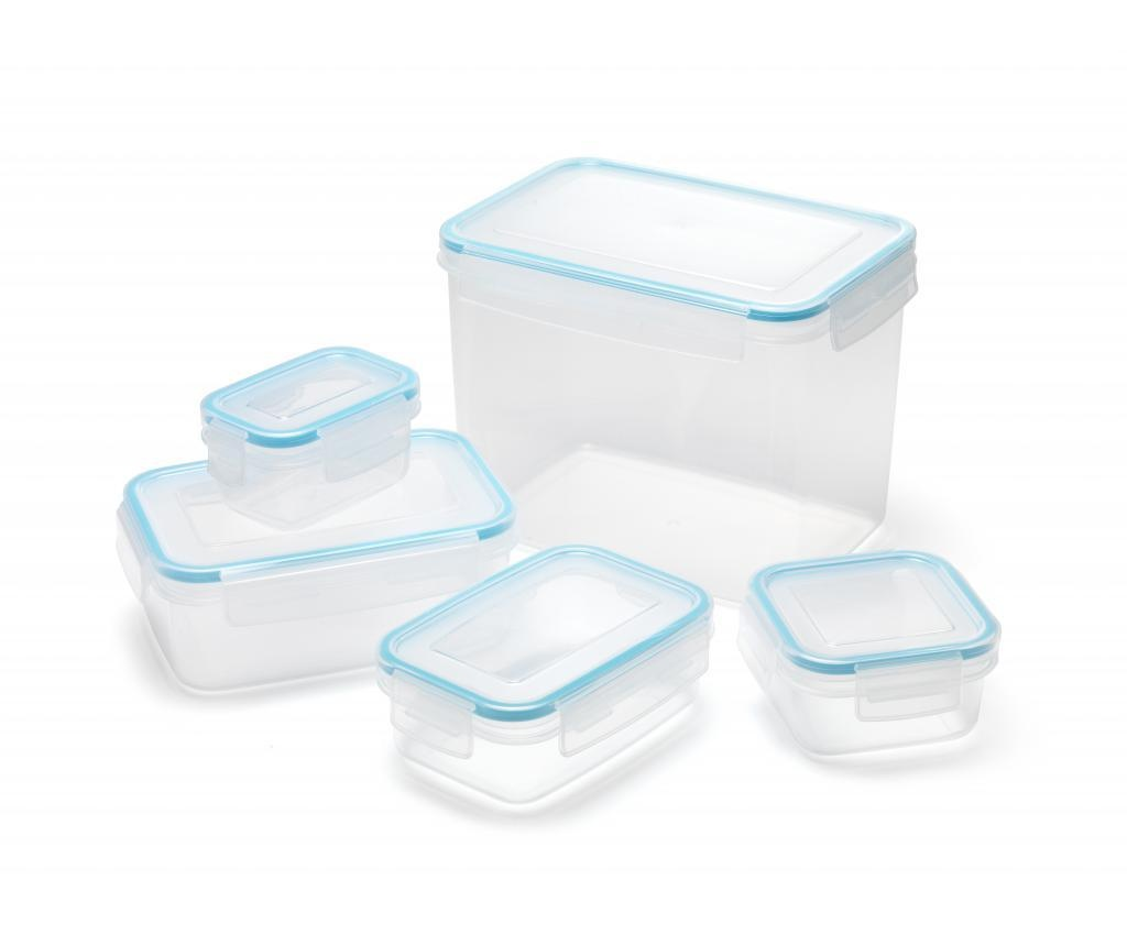Clip & Close 5 darabos Élelmiszer tároló doboz
