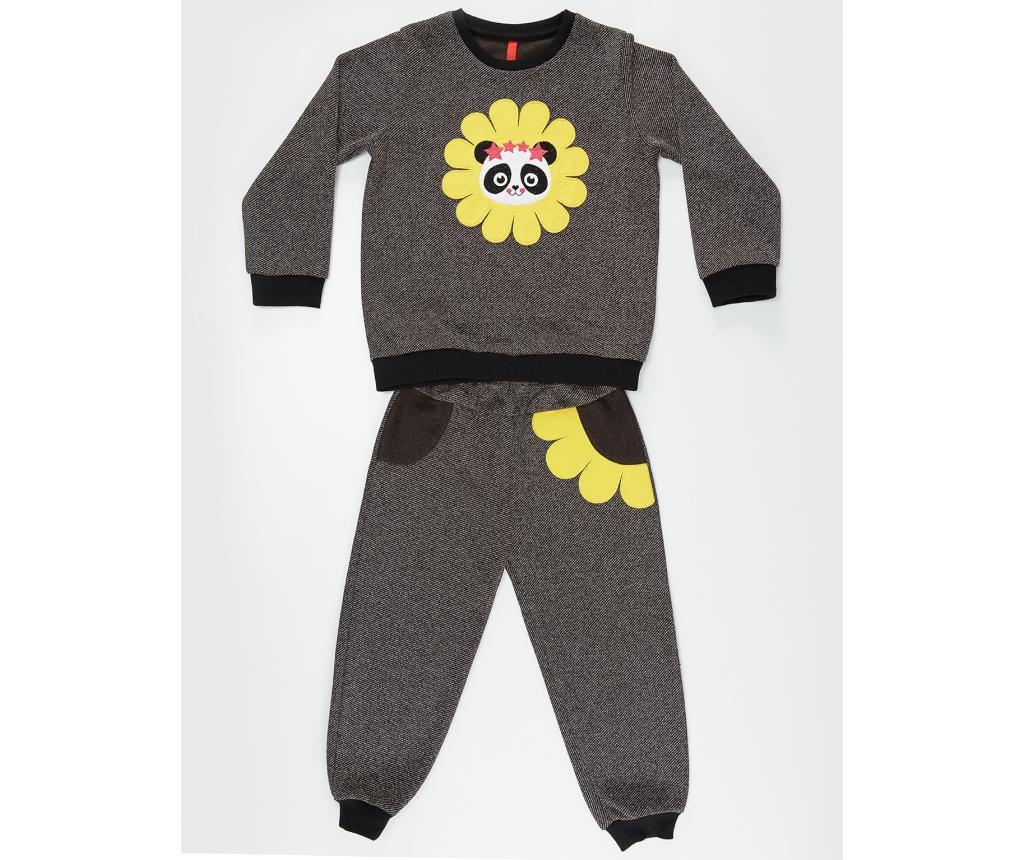 Set bluza si pantaloni Panda in Flower 9 ani