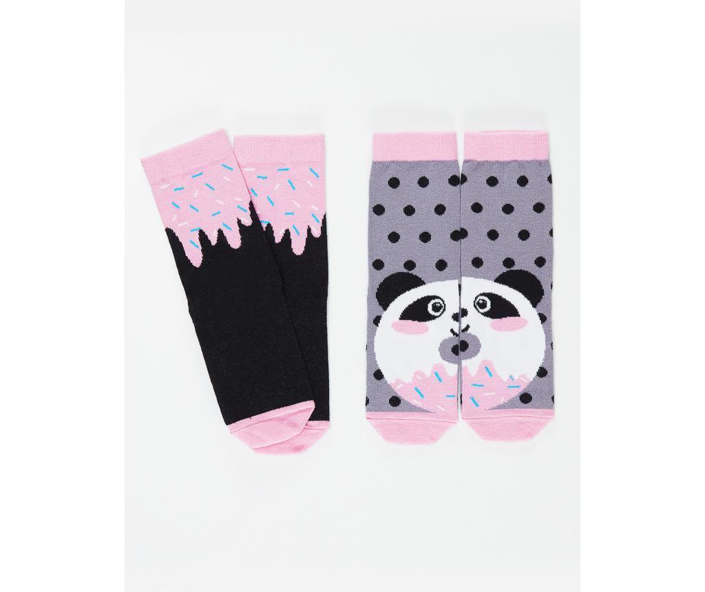 Set 2 perechi de sosete copii Panda&Cream 2-3 ani