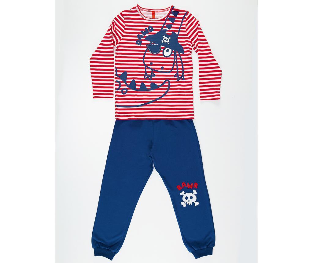 Set bluza si pantaloni pentru copii Pirate Striped 3 ani