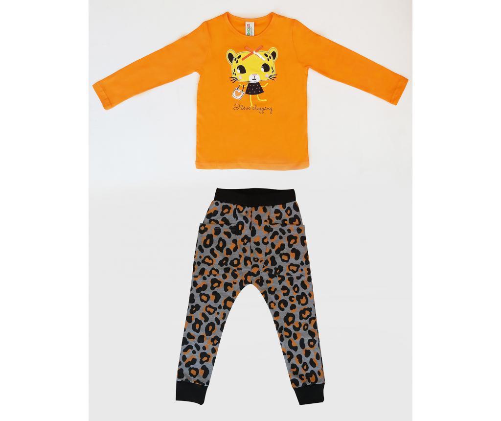 Set bluza si pantaloni pentru copii Leopard 6 ani