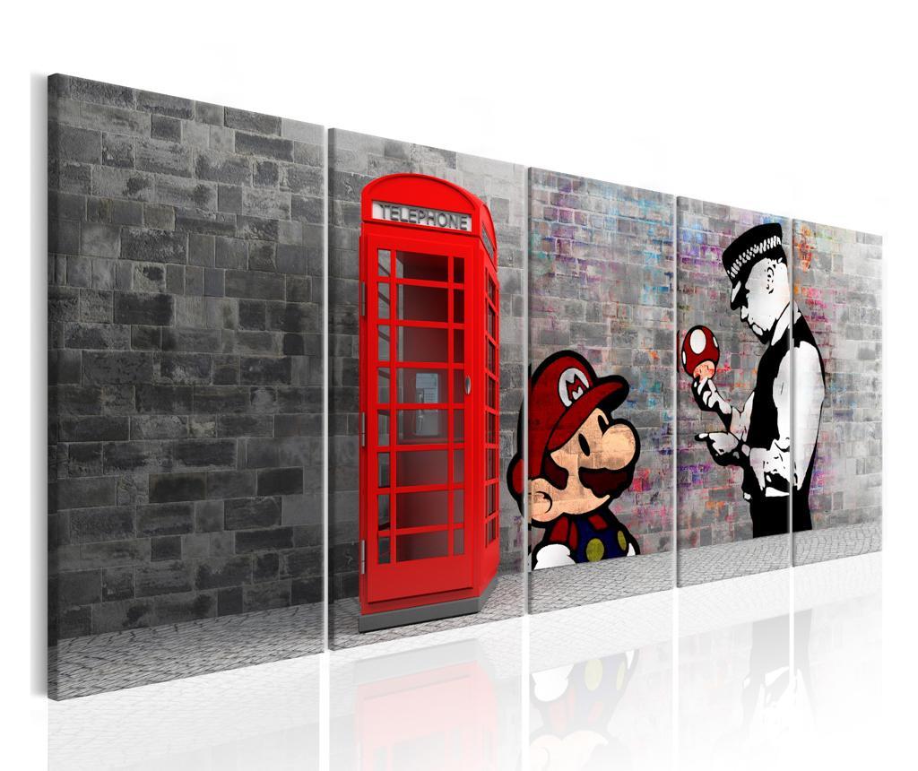 set 5 tablouri brick graffiti  vivrero