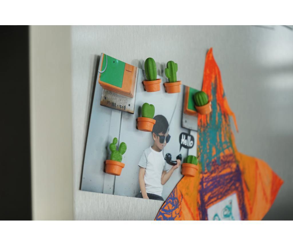 Set 6 magneta Cactus