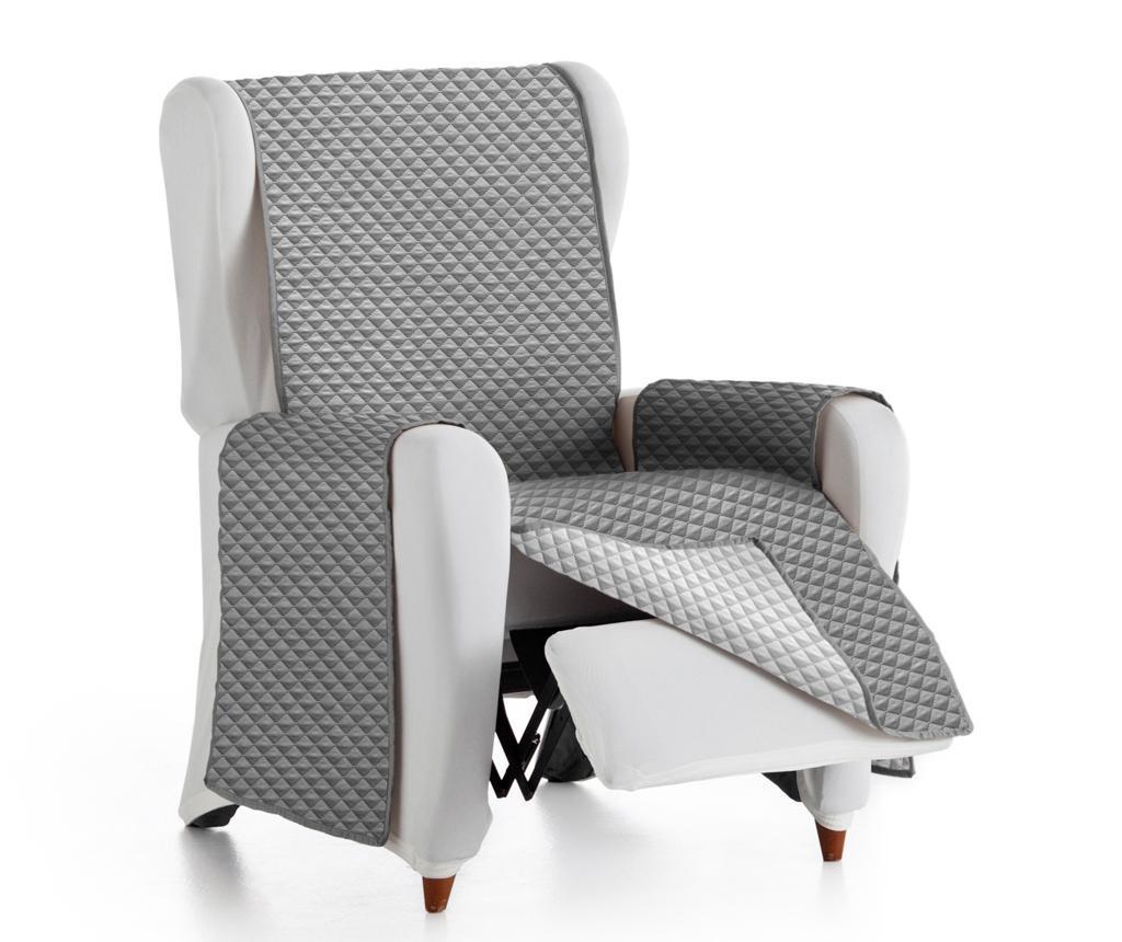 Prošivena navlaka za fotelju Oslo Reverse Dark & Light Grey 55x80x220 cm