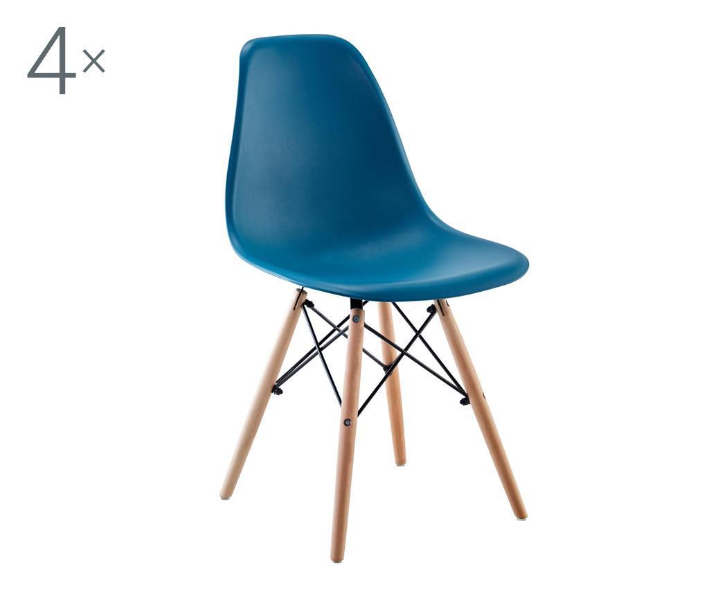 Set 4 stolice Lunaria Turquoise