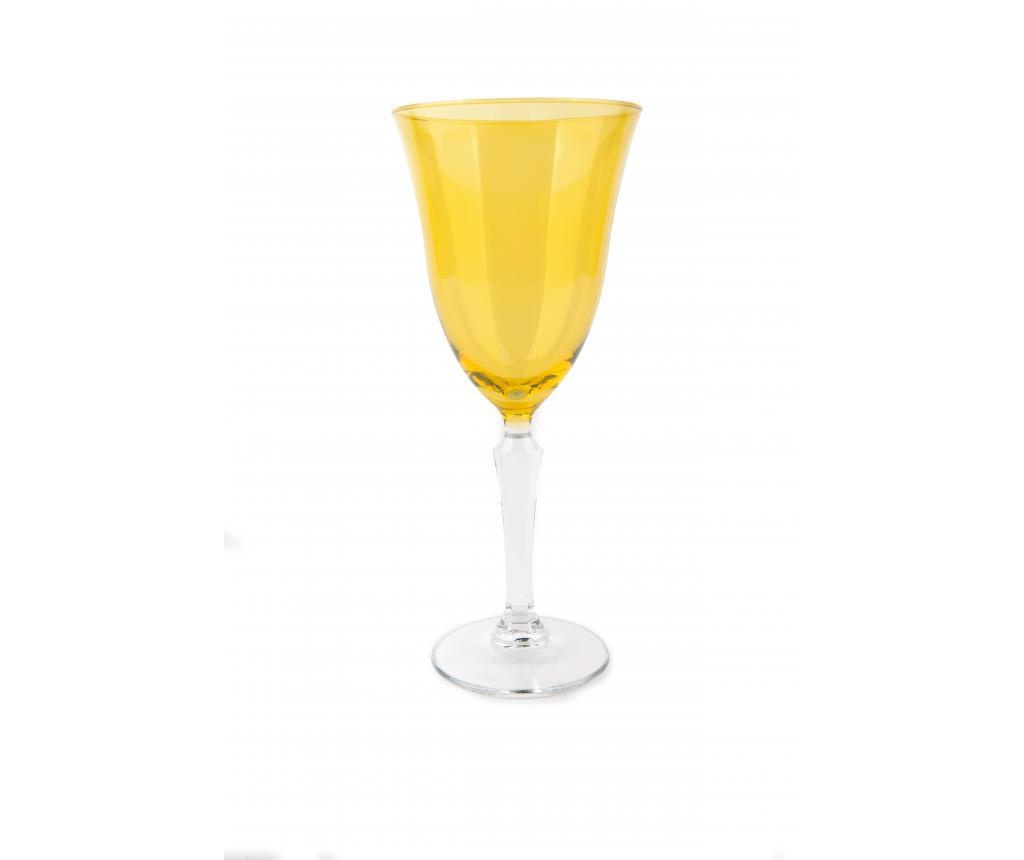 Pahar cu picior Crystal Wine Yellow 320 ml