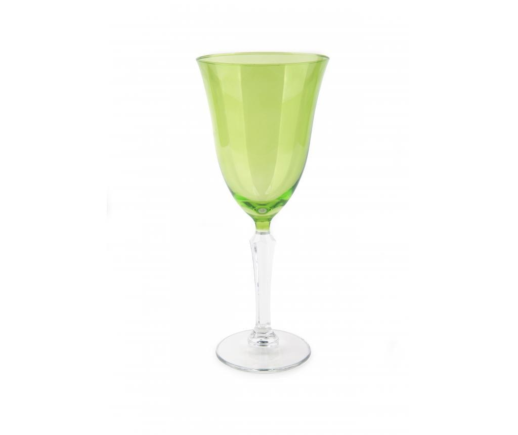 Pahar cu picior Crystal Wine Green 320 ml