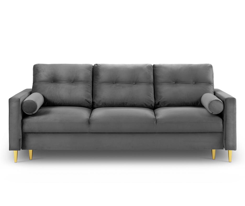 Tokyo Light Grey Háromszemélyes kihúzható kanapé