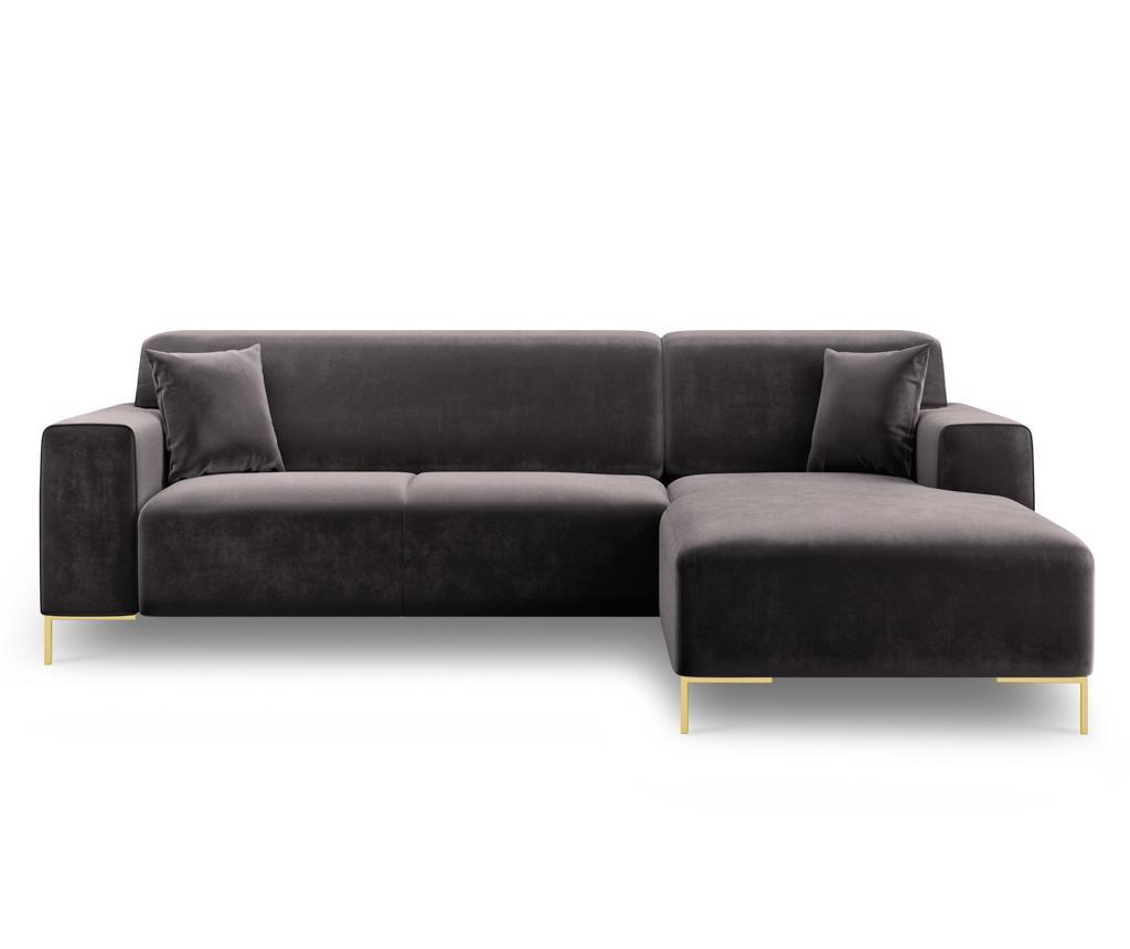 Desna kutna sofa četverosjed Modena Grey