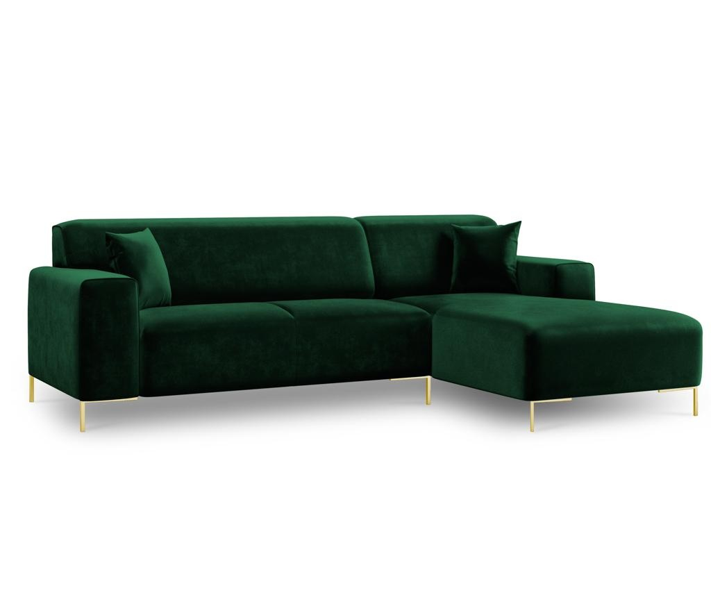 Desna kutna sofa četverosjed Modena Green