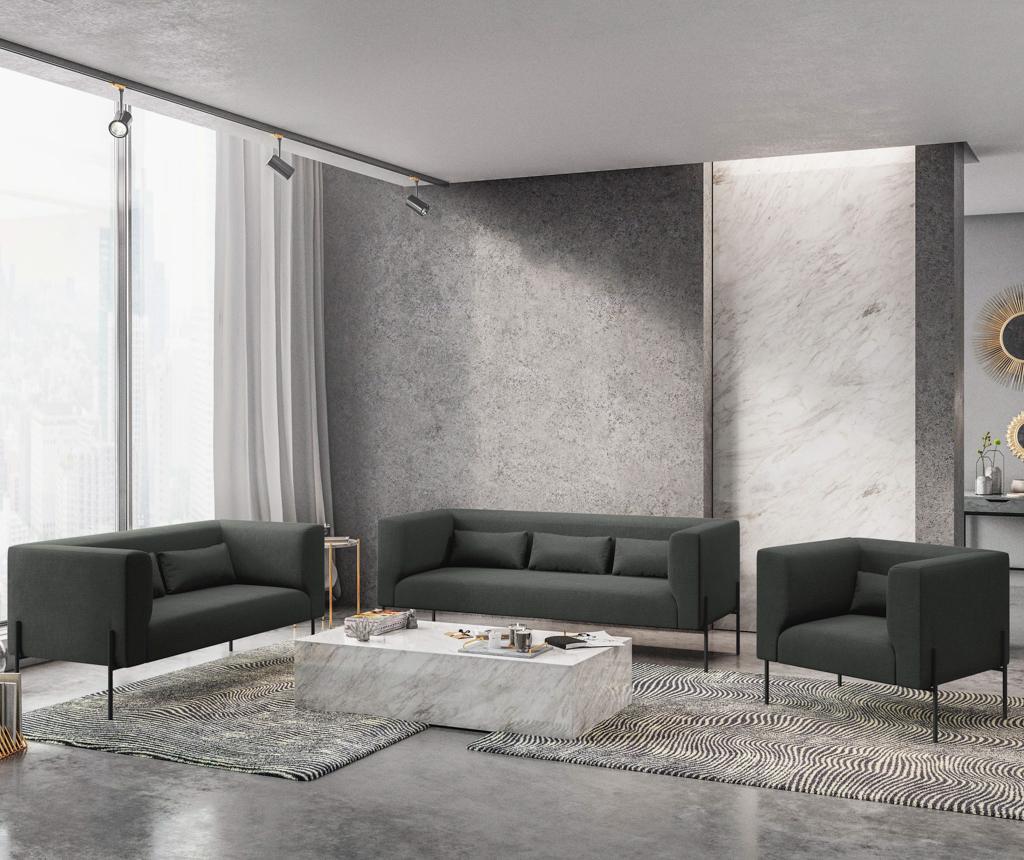 Sofa dvosjed Nina Dark Grey