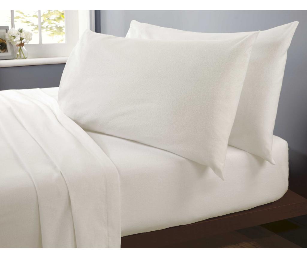 Cearsaf de pat Double Flannelette Cream