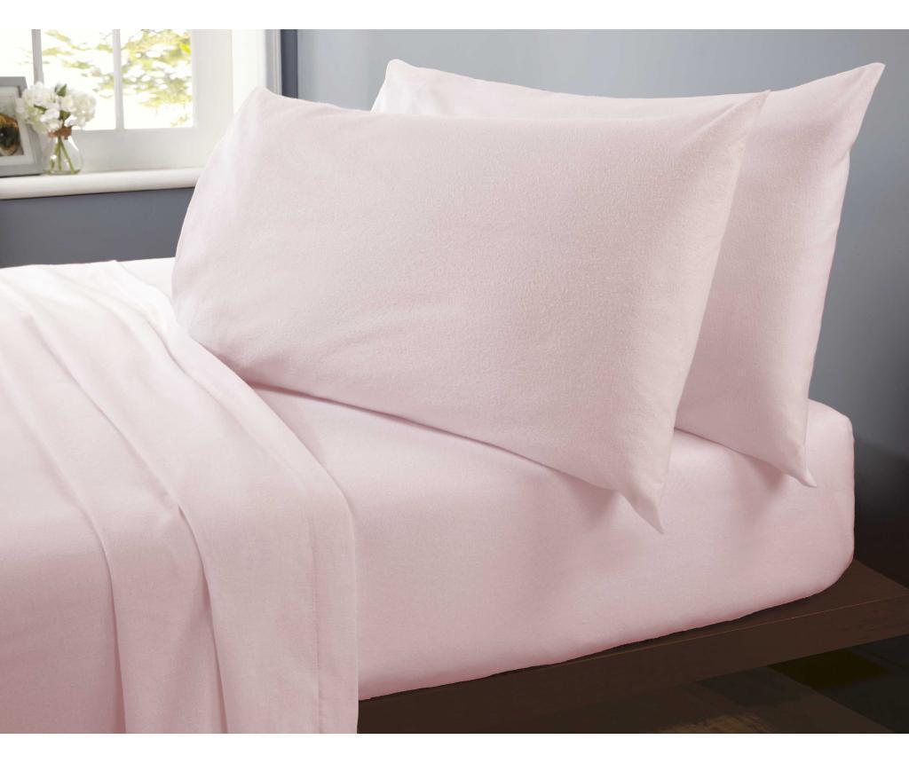 Flannelette Pink Kétszemélyes lepedő