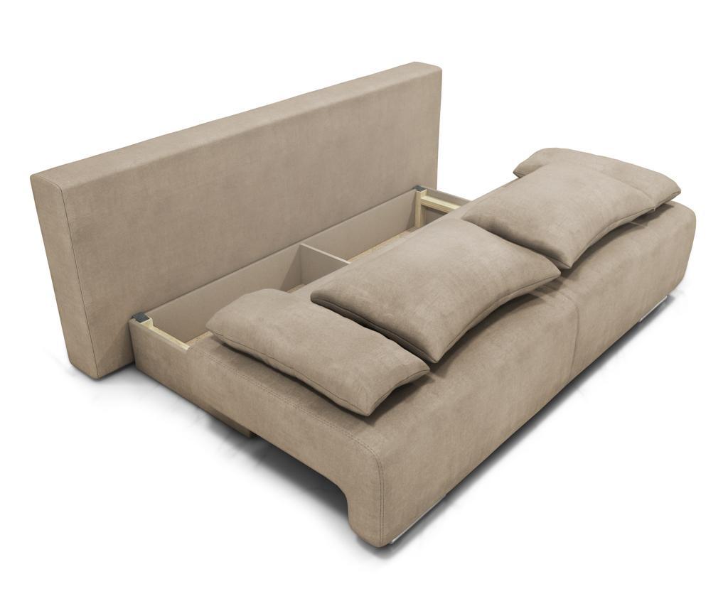 Rozkładana kanapa trzyosobowa Georgia Enjoy Camel