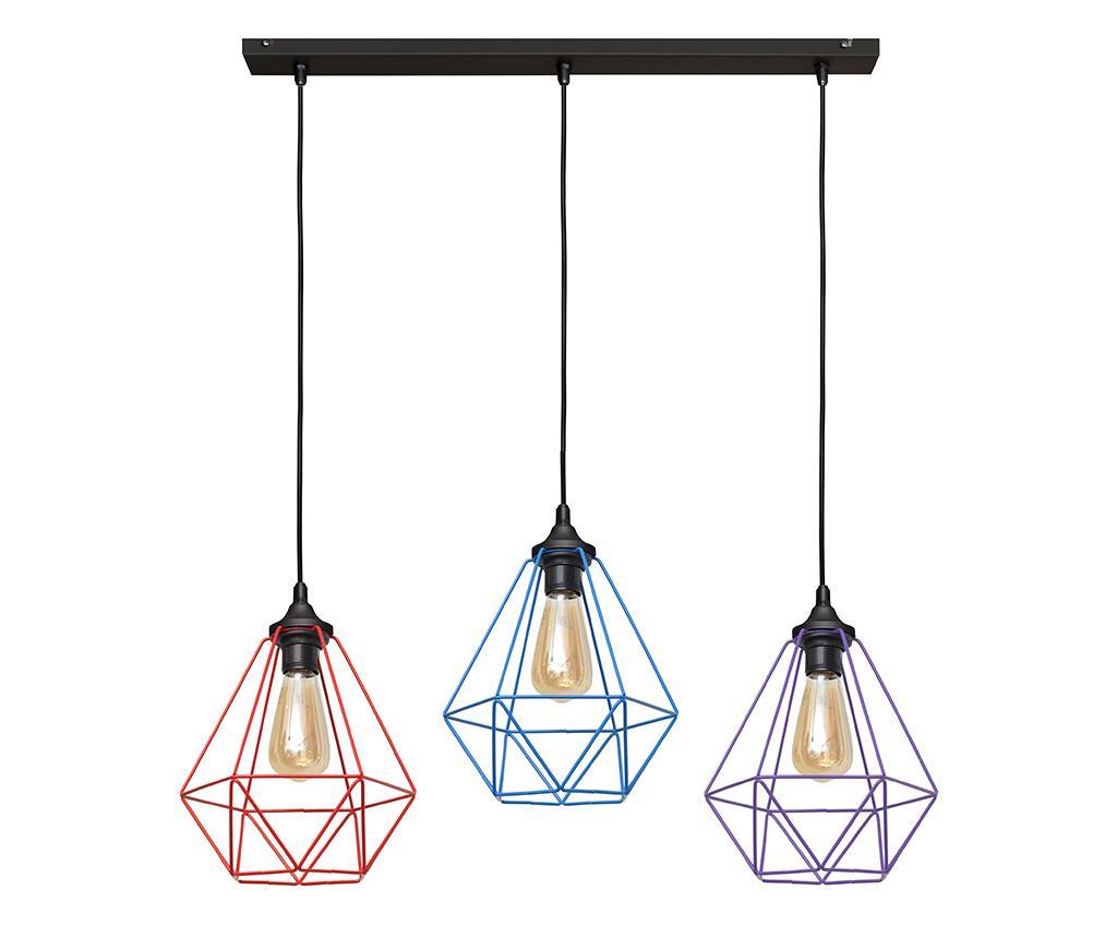 Viseća svjetiljka Karo Red Blue Purple